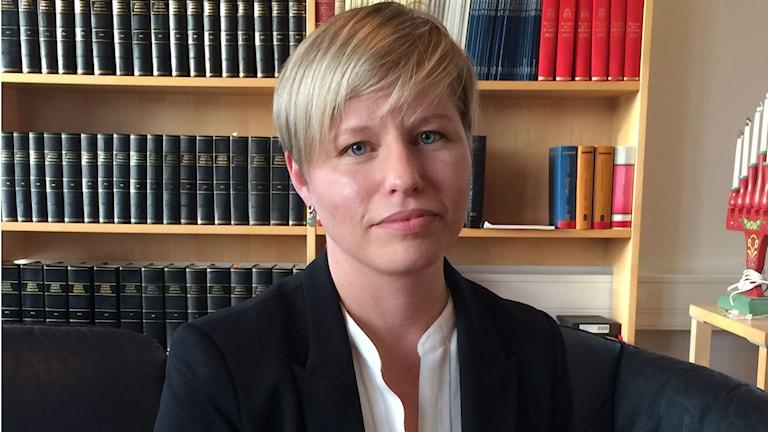 Ulrika Söderqvist enhetsshef ando SIN. Foto SR/radio Romano Veli Brijani