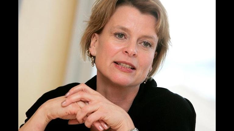 Minsiterka Åsa Regnér vorbija pa EU-migranotngi situatcia Foto:TT