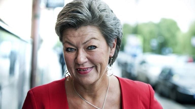 Ylva Johansson, arbetsmarknadsminister, Socialdemokraterna. Foto: TT