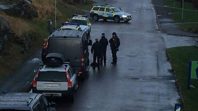 Bombhot i Biskopsgården. Foto: Carina Holmberg