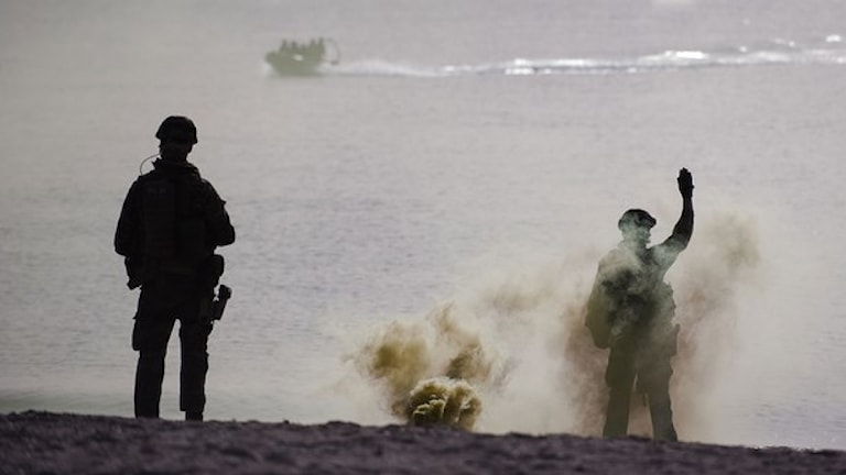 Shvedoske militeria ando Shvedo. Foto:TT