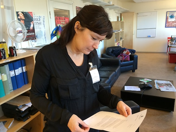 Huvudsekreterare för kommissinen Heidi Pikkarainen. Foto: SR/Radio Romano Veli Brijani