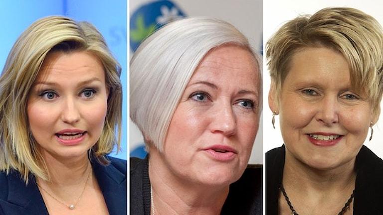 Ebba Busch Thor, Acko Ankarberg och Penilla Gunther. Partiledarkandidater KD: Foto: TT/Riksdagen