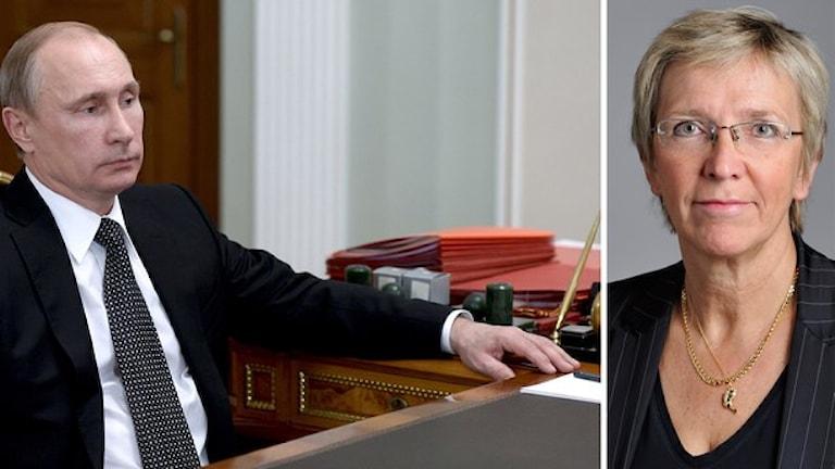 Kerstin Lundgren (C) si jekh anda politikura so las kado lil. Foto: TT