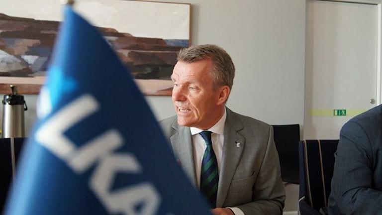 LKAB:s vd Lars-Eric Aaro. Foto: Pekka Kenttälä/Sveriges Radio.