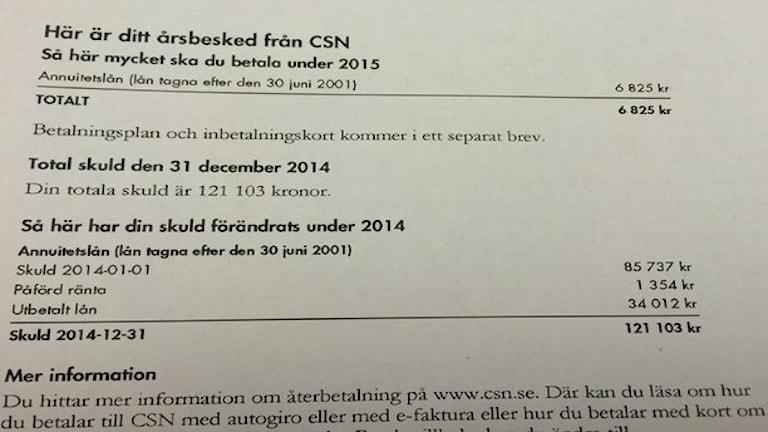 Nu ska alla få lika mycket pengar för CSN. Foto: Sveriges Radio Västerbotten.