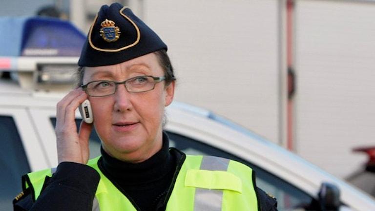 Polisen Ewa-Gun Westford. Foto: Malin Thelin/Sveriges Radio