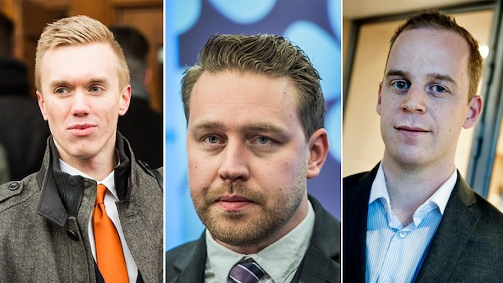 William Hahne, Mattias Karlsson och Gustav Kasselstrand. Foto: TT