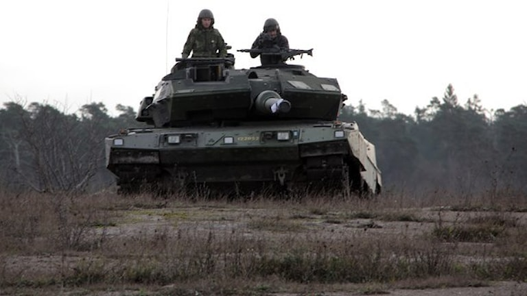 A permanent military presence on Gotland from 7 am today. Photo Hanna Sihlman/Sveriges Radio