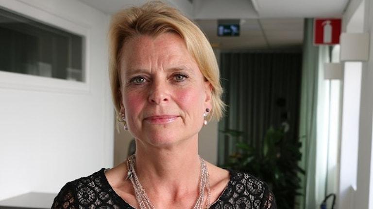 Barn-, äldre- och jämställdhetsminister Åsa RegnerFoto: Ronnie Ritterland / Sveriges Radio