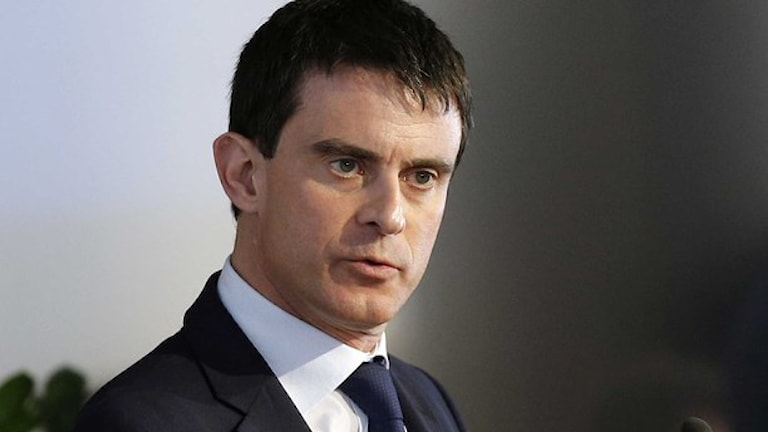 Frankrikes premiärminister Manuel Valls. Foto: Christophe Ena/TT
