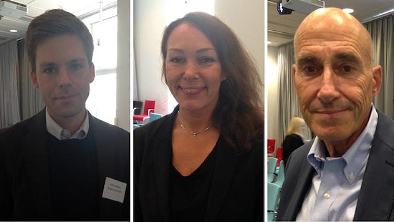 Erik Lundberg, Christina Garsten och Olle Wästberg har undersökt hur svensk demokrati förändrats. Foto: Isabelle Swahn/Sveriges Radio.