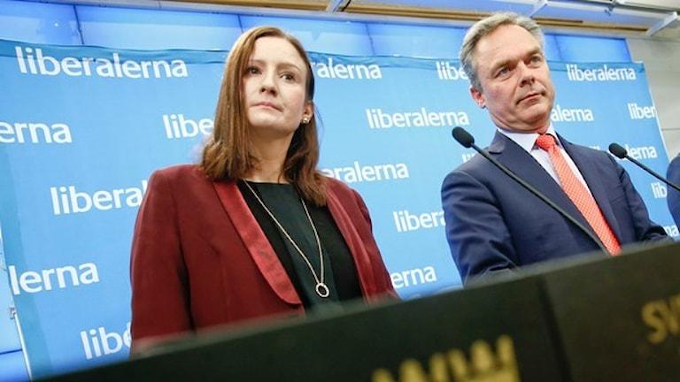 Birgitta Ohlsson och Jan Björklund Foto Fredrik Persson TT.