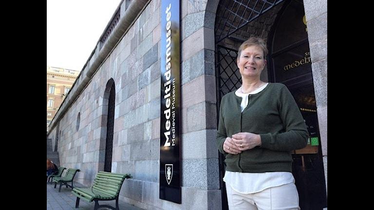 Ann-Charlotte Backlund, museichef vid kulturförvaltningen i Stockholm. Foto: Teresa Kristoffersson/SR