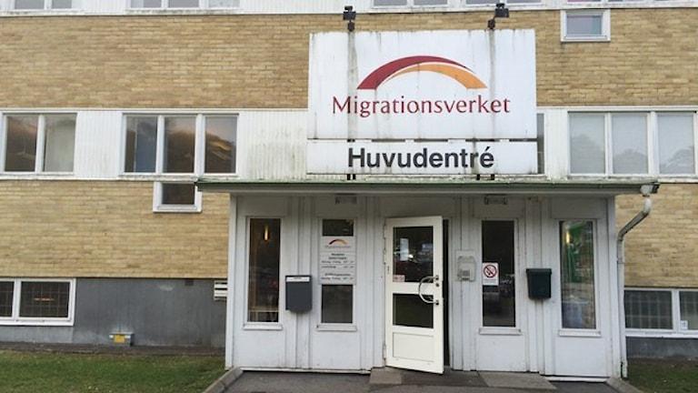 Migrationsverket ando Kållered. Foto: Simon Rissvik/SR