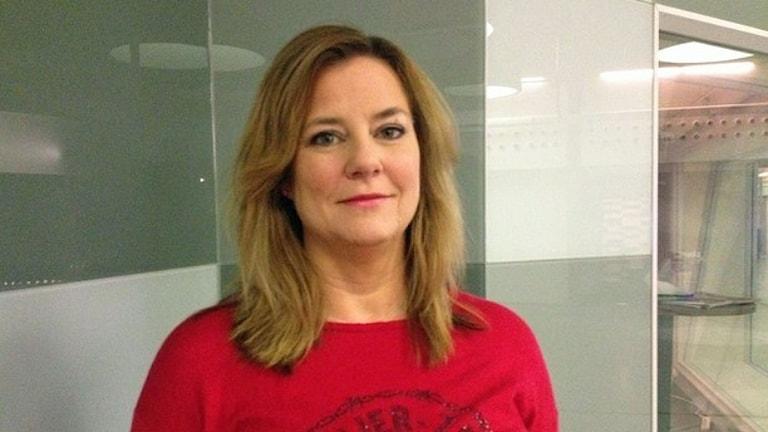Anna Carlstedt, Röda Korsets ordförande. Foto: Sveriges Radio