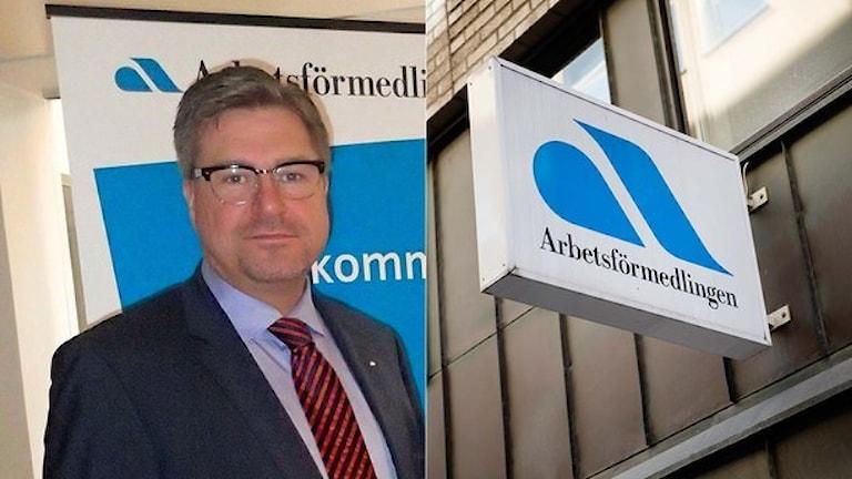 Mikael Sjöberg, generaldirektör. Foto: TT. Montage: Sveriges Radio