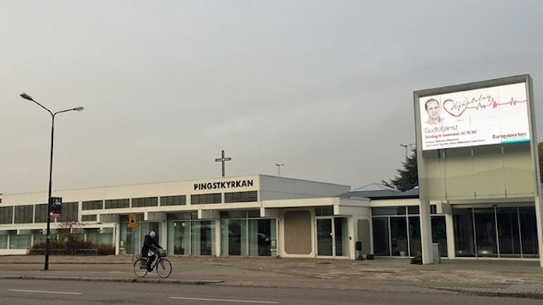Pingstkyrkan ligger vid Europaporten. Foto: Madeleine Fritsch Lärka/Sveriges Radio