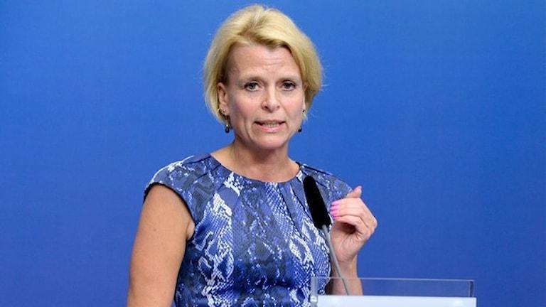 Jämställdhetsminister Åsa Regnér. Foto: Bertil Ericson/TT.