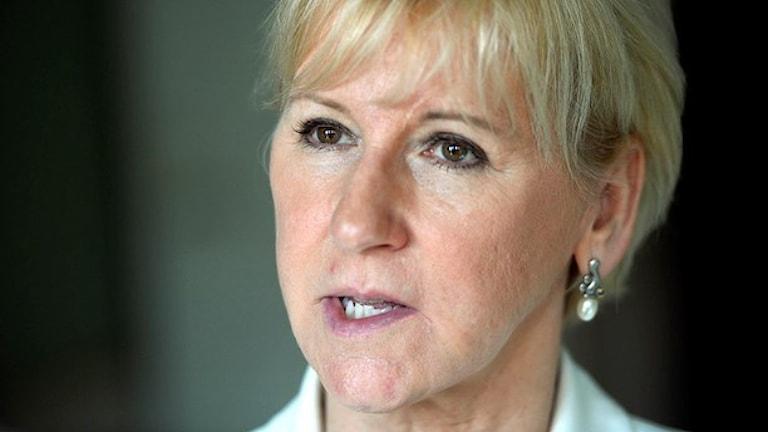 Utrikesminister Margot Wallström (S). Foto: Vilhelm Stokstad/TT.