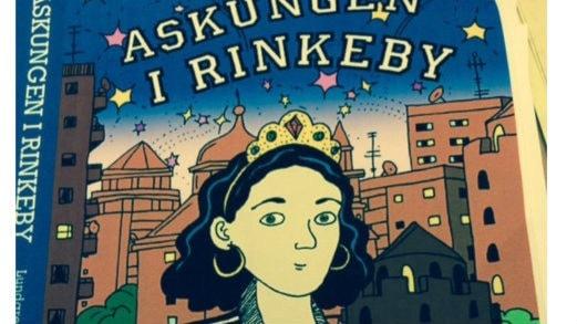 """Den tecknade omslagsbilden till boken """"Askungen i Rinkeby"""". Foto: Veli Brijani/Sveriges Radio."""