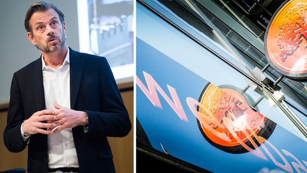 Swedbanks vd Michael Wolf. Foto: Nora Lorek/Magnus Hjalmarson Neideman /TT