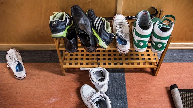 Skor på ett skoställ Foto: Tomas Oneborg/SvD/TT
