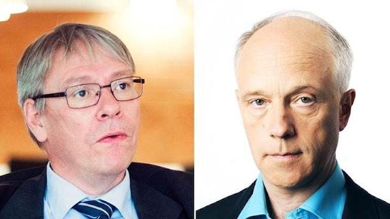 Chefsåklagare Krister Petersson och Nils Horner Foto: Robert Henriksson/ TT/Mattias Ahlm/Sveriges Radio