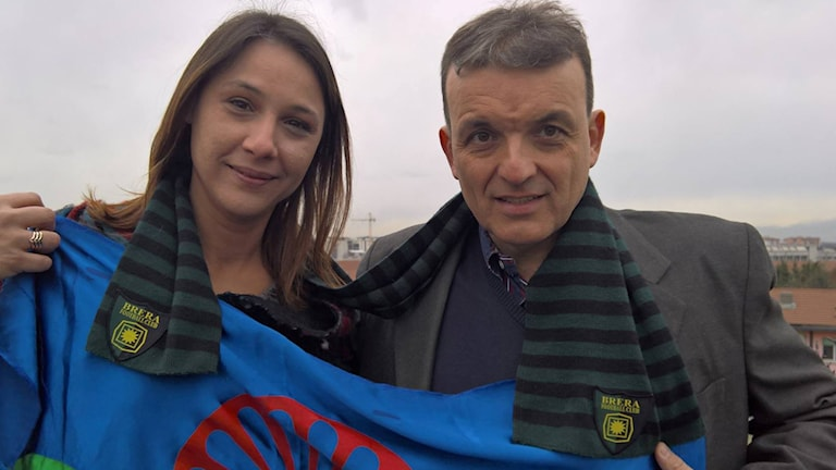 Diana Pavlovic thaj o Alessandro Aleoti ka keren Romani futbolsko representacia. Foto: Privtno.