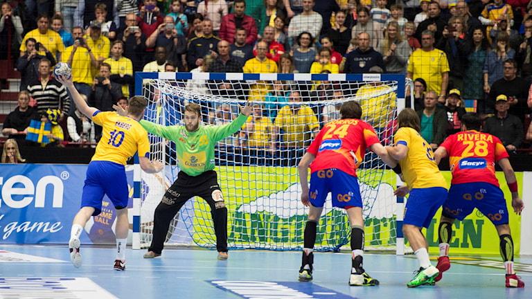 Shvedo khelel handboll karing Espania