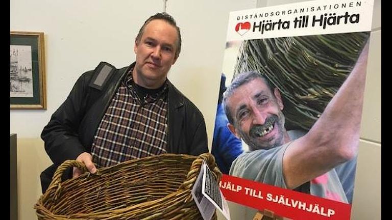 Rickard Klerfors är biståndsansvarig på Hjärta till Hjärta. Foto: Magnus Arvidson