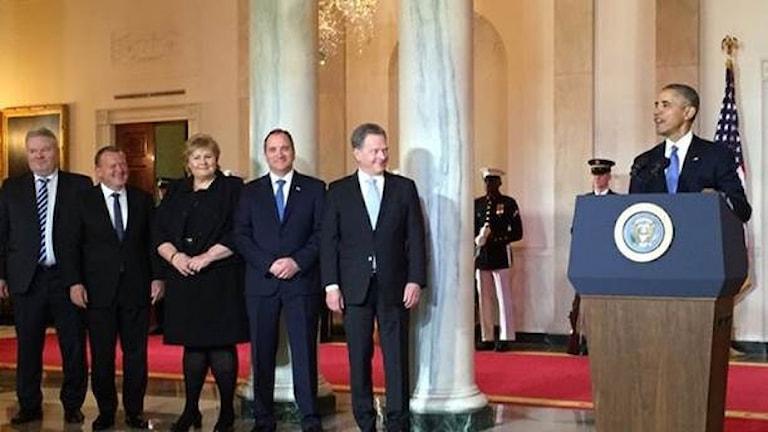 Nordicno delegatcia khaj o Obama
