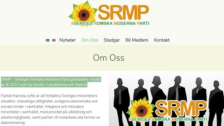 Sveriges Romska Moderna Parti ando Malmö