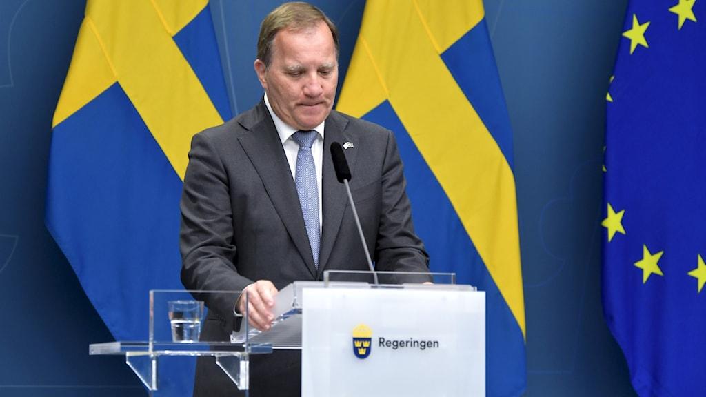 Statsministro Stefan Löfven chi das kankretne atvetura so kerla kanak.