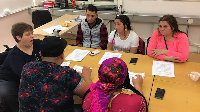 EU migranter går i skolan