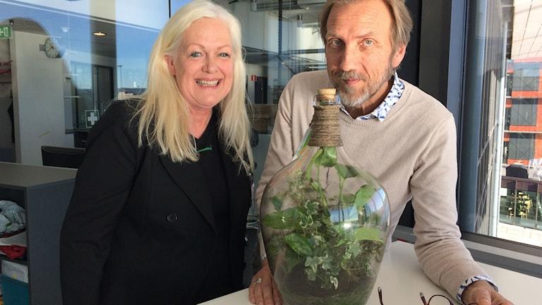 Helene Sylvan och Erik Blix.