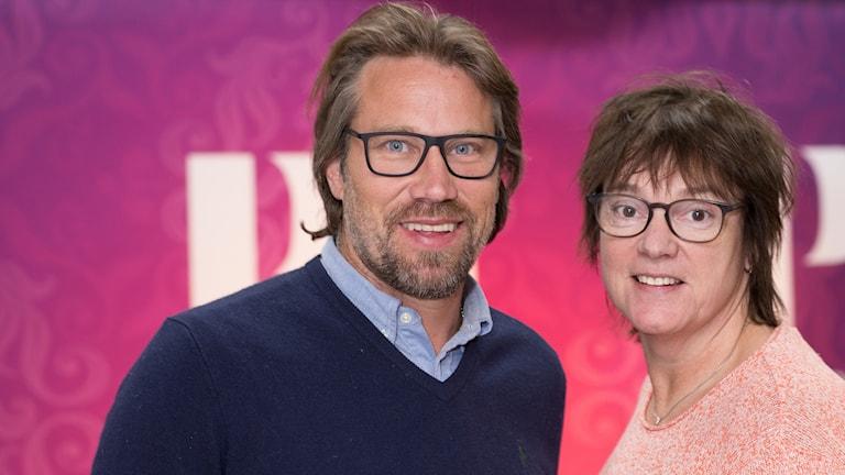 Peter Foppa Forsberg och Lotta Bromé