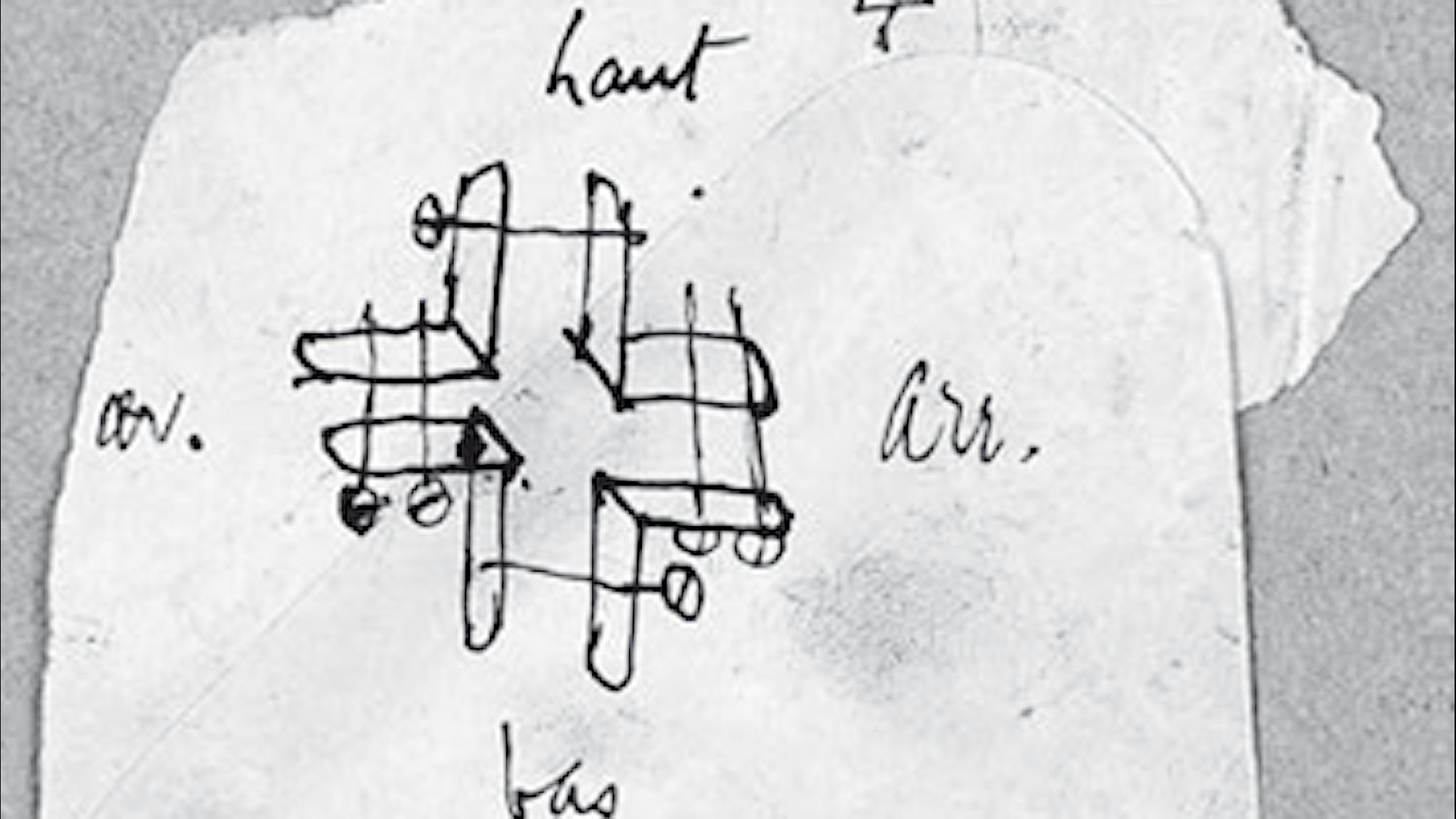 Verket signeras Marcel Duchamp