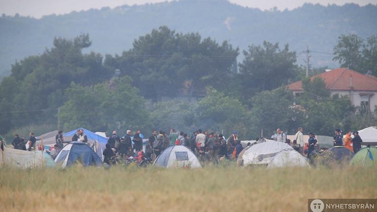 Flyktingläger Idomeni