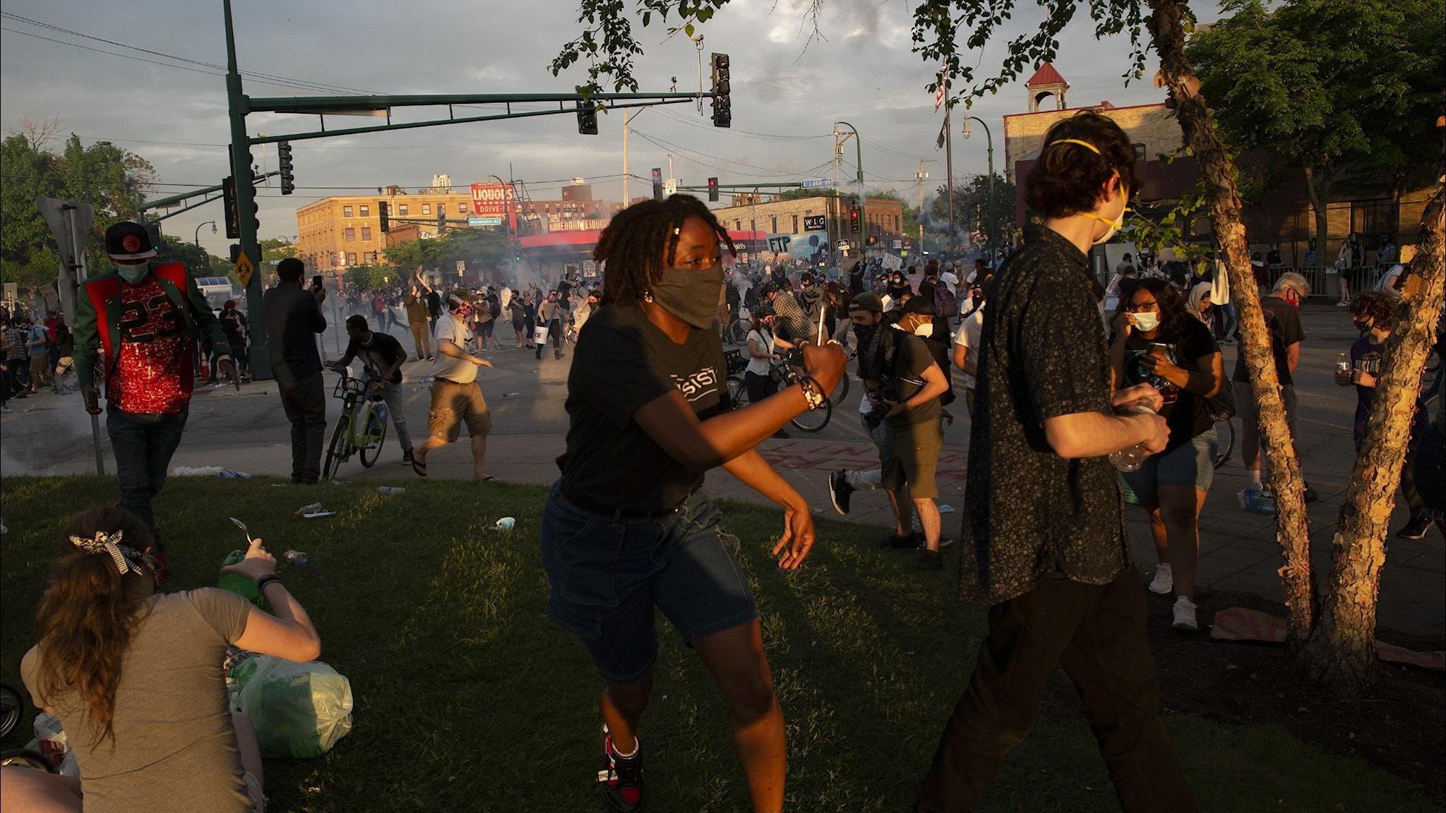 Protester i USA.