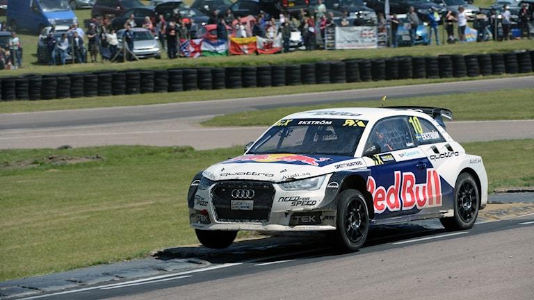 Mattias Ekström i sin rallybil