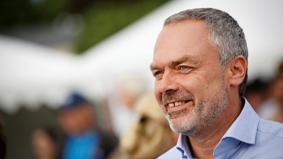 Liberalernas Jan Björklund  i Almedalsparken