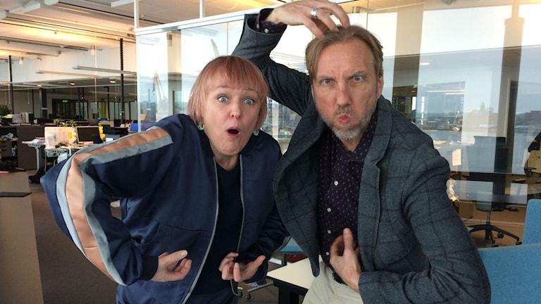 Maria Blom och Erik Blix.