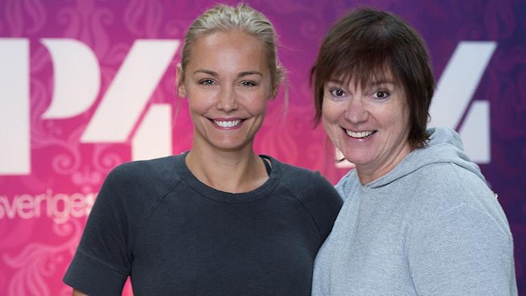 Carina Berg och Lotta Bromé