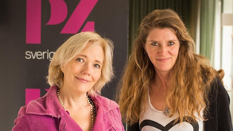 Författarna Karin Nordlander (t.v.) och Linda Newnham
