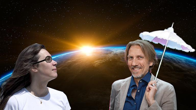 Maria och Erik turistar i rymden