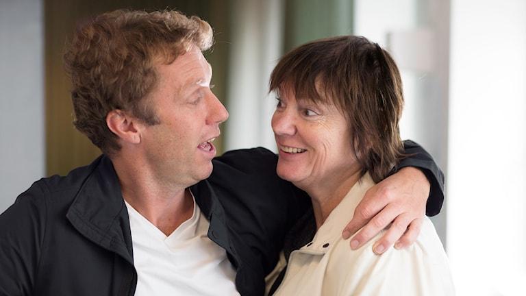 Klas Hallberg och Lotta Bromé