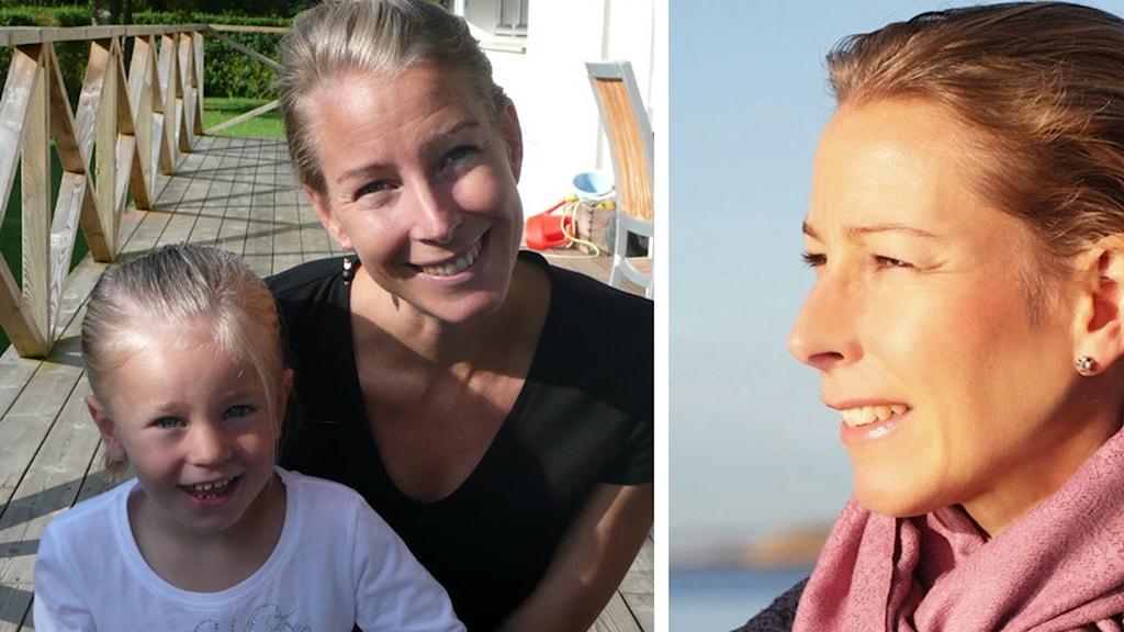 Carolina Molse med dottern Anna