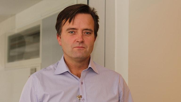 Jan Olsson, bedrägerisamordnare vid Stockholmspolisen. Foto: Åsa Stöckel/Sveriges Radio.