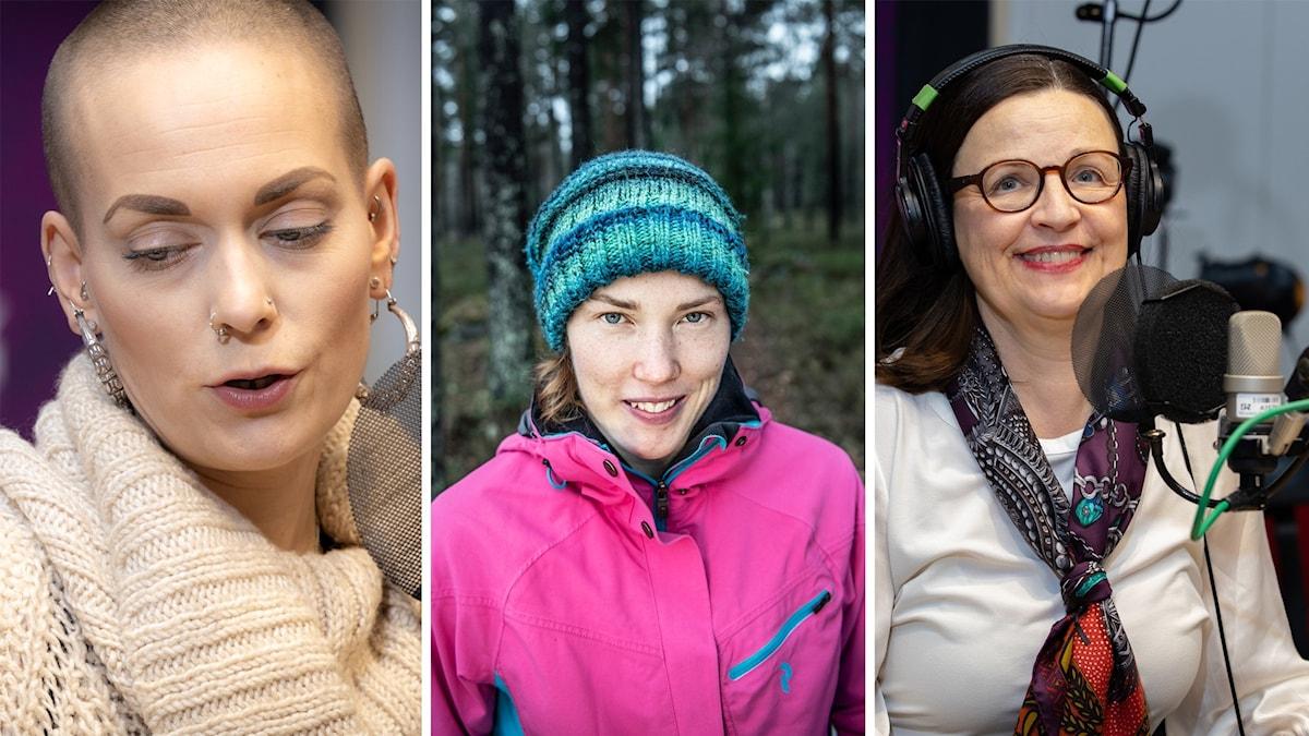 Sanna Bråding, Tove Alexandersson och Anna Ekström